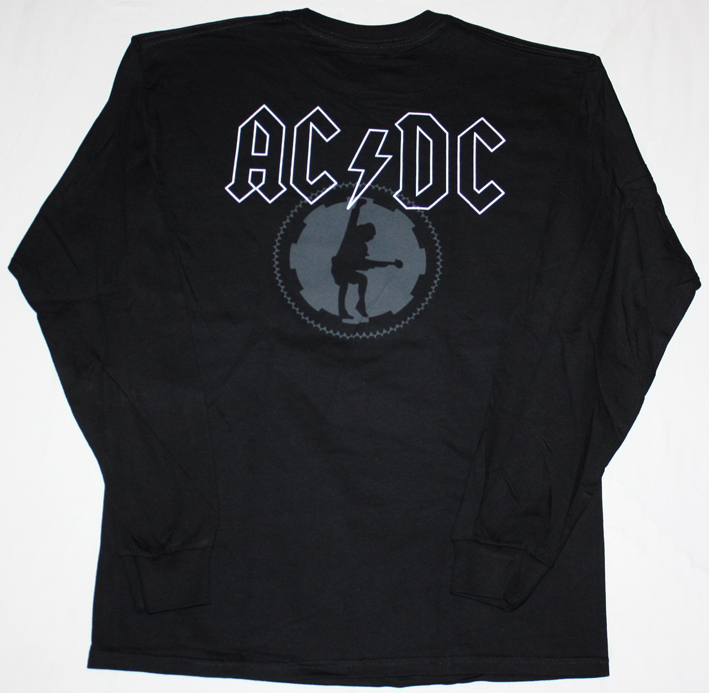AC DC BLACK ICE  AC/DC NEW BLACK LONG SLEEVE T-SHIRT
