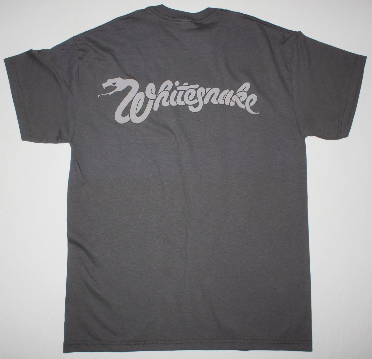 WHITESNAKE READY AN' WILLING 80 NEW GREY CHARCOAL T-SHIRT