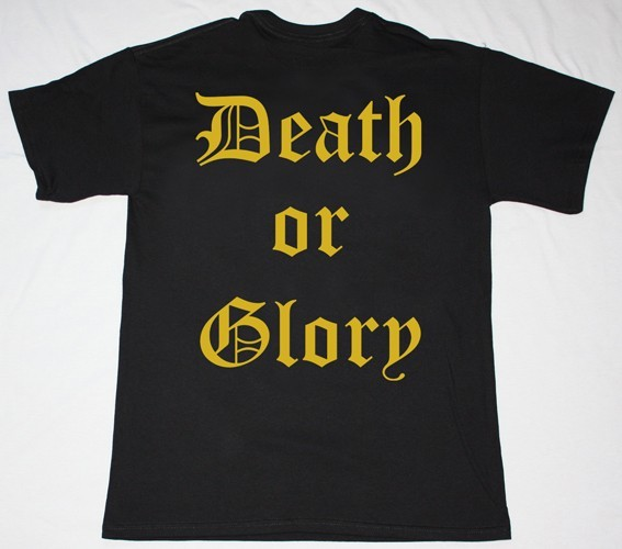 RUNNING WILD DEATH OR GLORY '89 NEW BLACK T-SHIRT