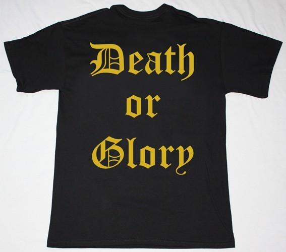 RUNNING WILD DEATH OR GLORY '89 NEW BLACK T-SHIRT