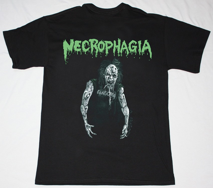 NECROPHAGIA SEASON OF THE DEAD '87 NEW BLACK T-SHIRT