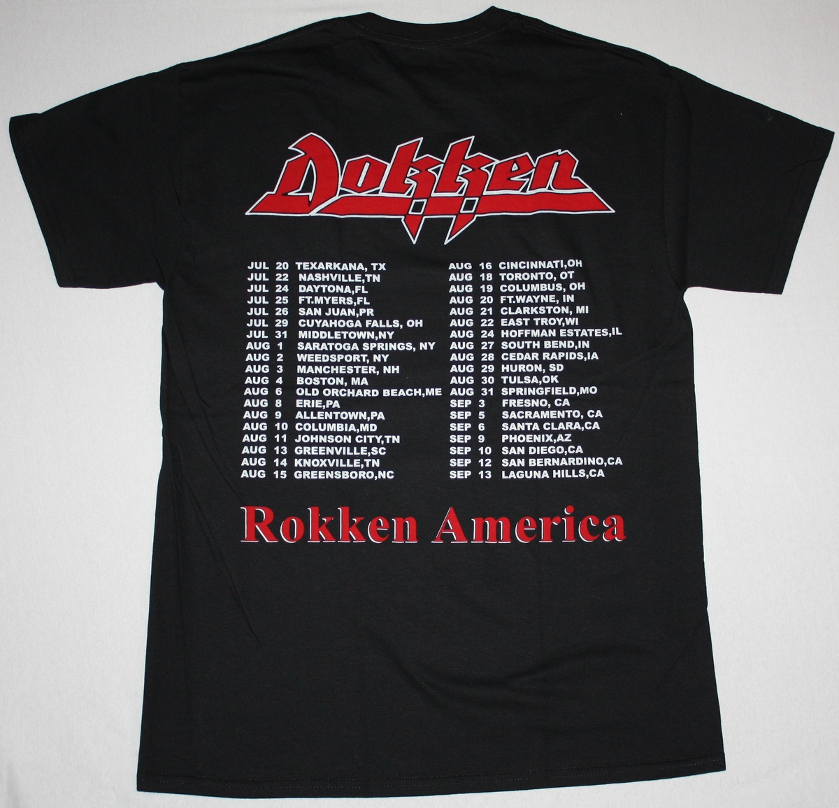 DOKKEN UNDER LOCK AND KEY NEW BLACK  T-SHIRT