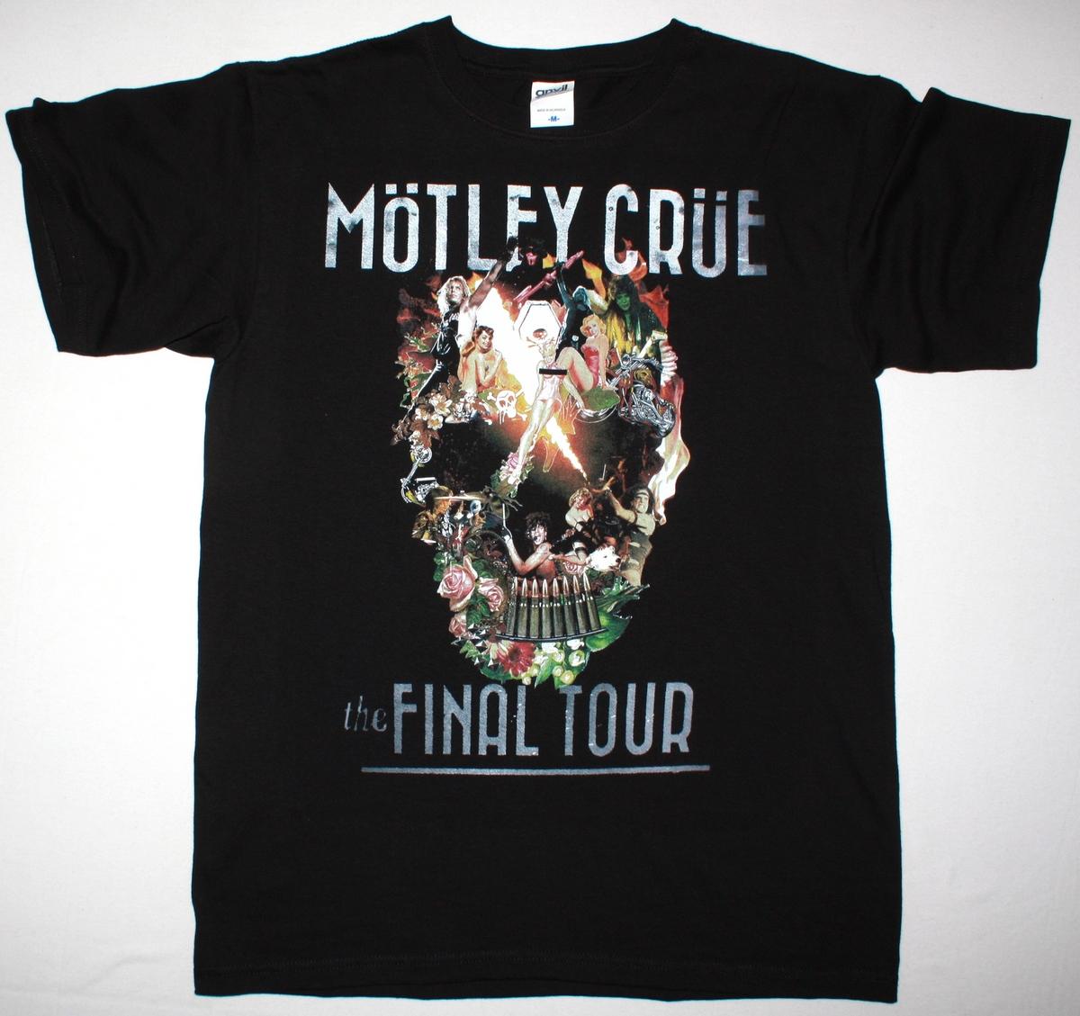 MOTLEY CRUE THE FINAL TOUR 2015 NEW BLACK T-SHIRT