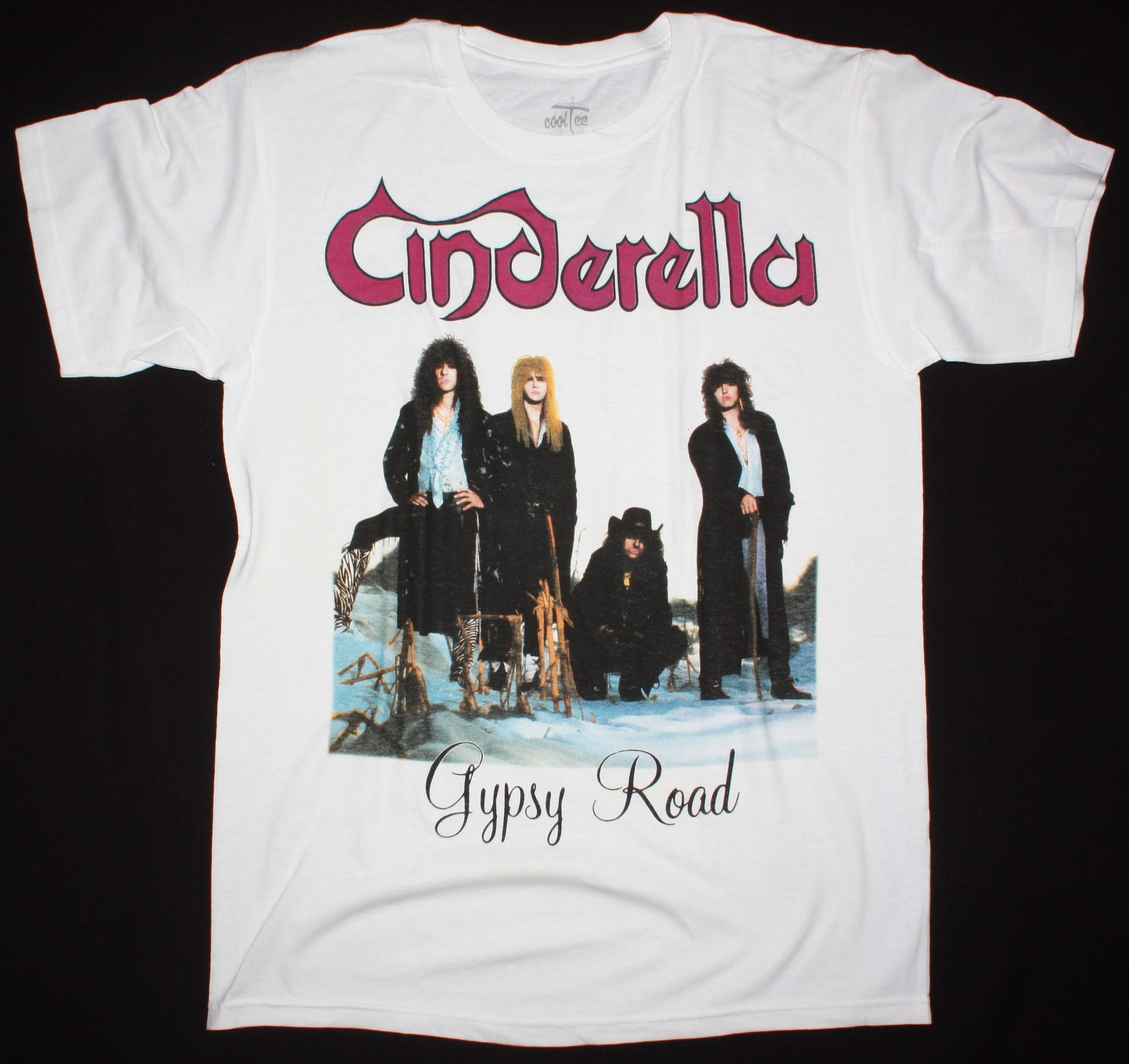 CINDERELLA GIPSY ROAD NEW WHITE T SHIRT Best Rock T shirts