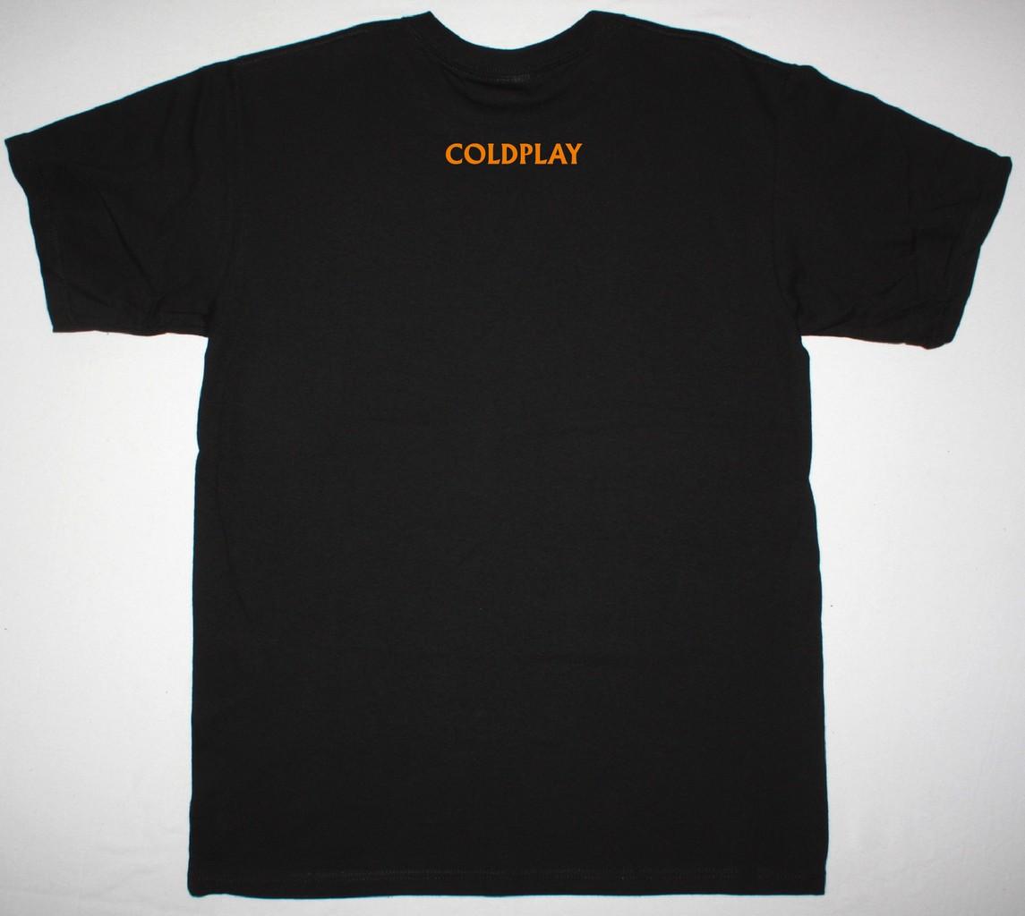 COLDPLAY CHRIS MARTIN FACE NEW BLACK T-SHIRT