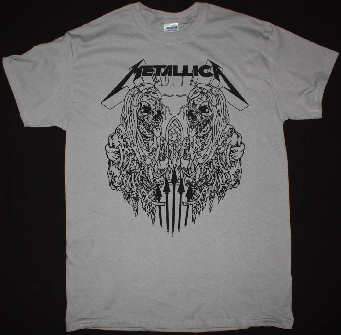 Metallica Madly In Anger With The World New Black T Shirt Kaos Band Artic Monkeys Gildan Artwor Pushead Silver Light Grey