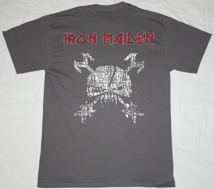 IRON MAIDEN THE HORSEMAN GREY/CHARCOAL T-SHIRT
