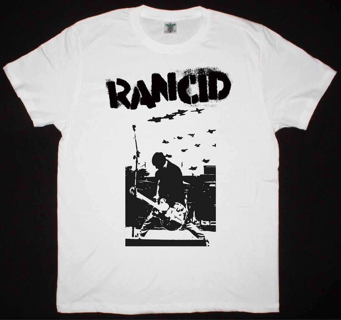 RANCID TIM LIVE NEW WHITE T-SHIRT