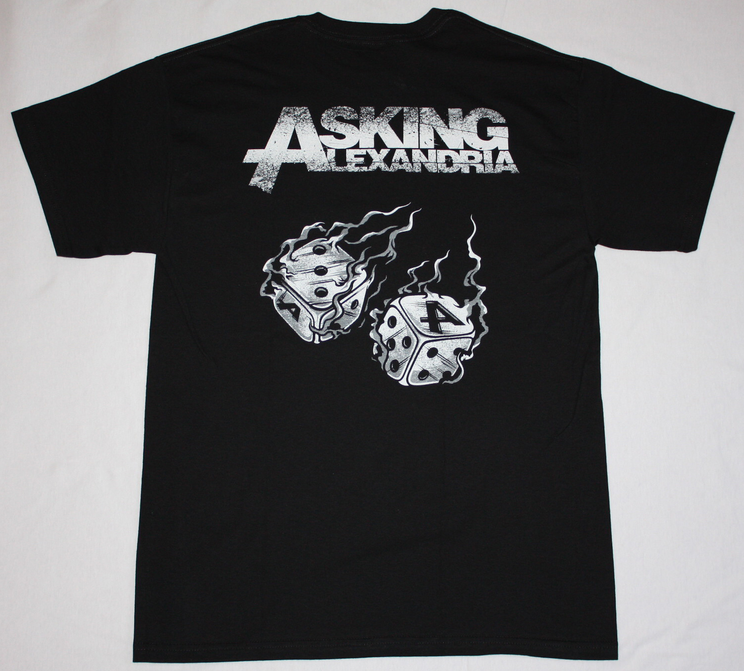 ASKING ALEXANDRIA DICE NEW BLACK T-SHIRT