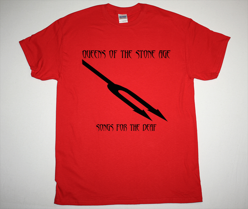 QUEENS OF THE STONE AGE SONGS FOR THE DEAF NEW RED T-SHIRT