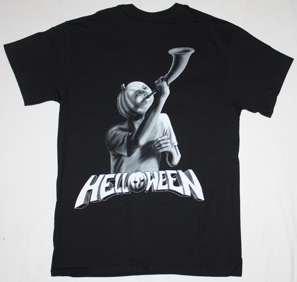 HELLOWEEN WALLS OF JERICHO'85  NEW BLACK T-SHIRT
