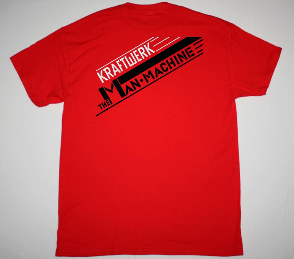 KRAFTWERK THE MAN-MACHINE 1978 NEW RED T-SHIRT