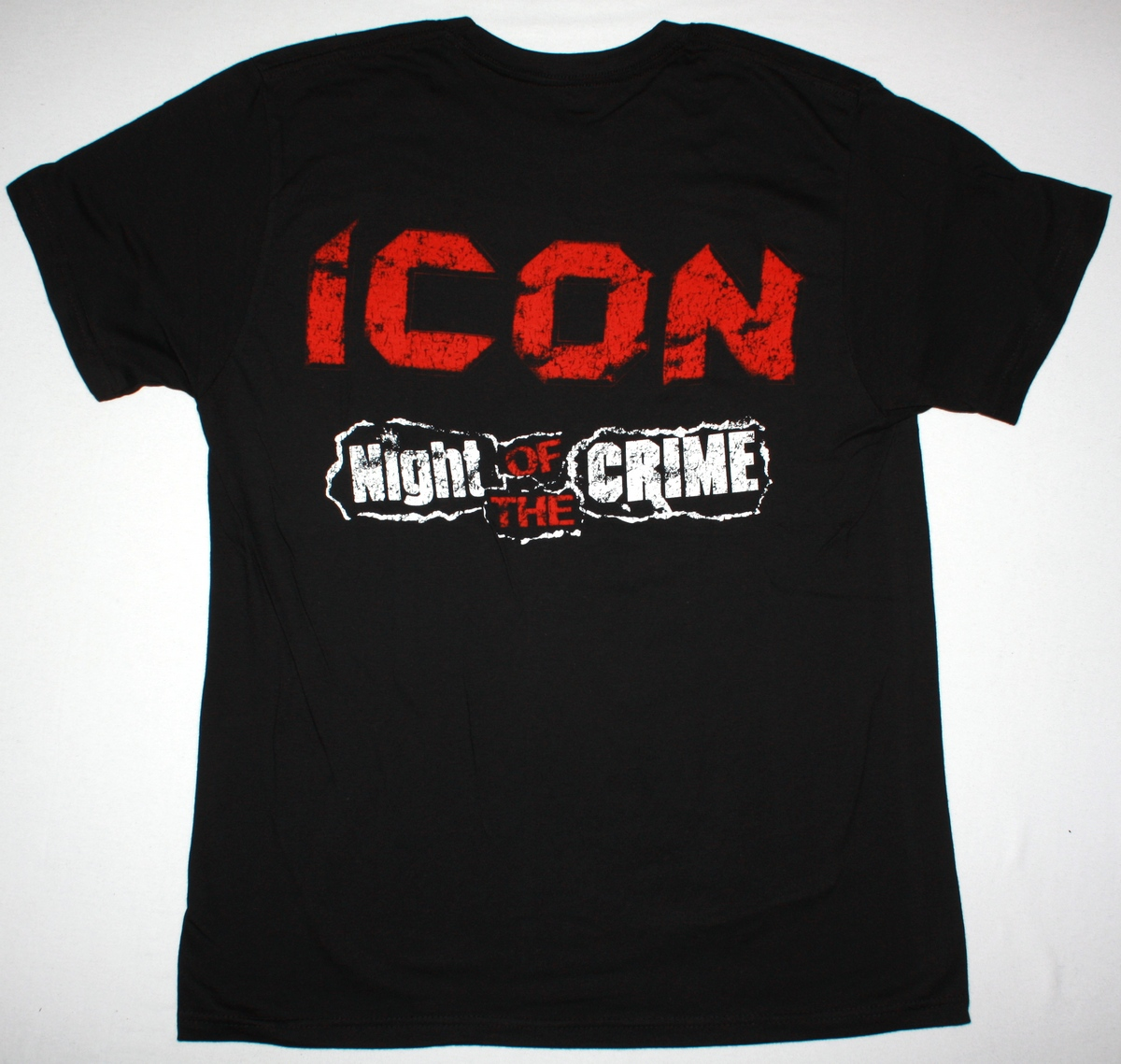 ICON NIGHT OF THE CRIME 85 NEW BLACK T-SHIRT
