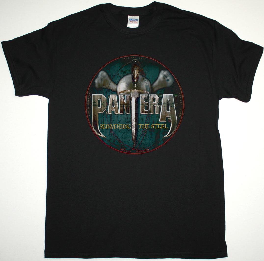 PANTERA REINVENTING THE STEEL NEW BLACK T-SHIRT