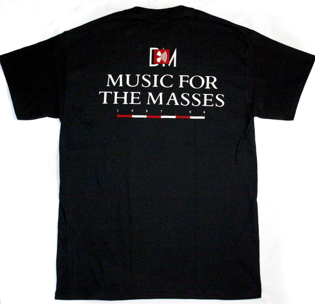 DEPECHE MODE MUSIC FOR THE MASSES NEW BLACK T-SHIRT
