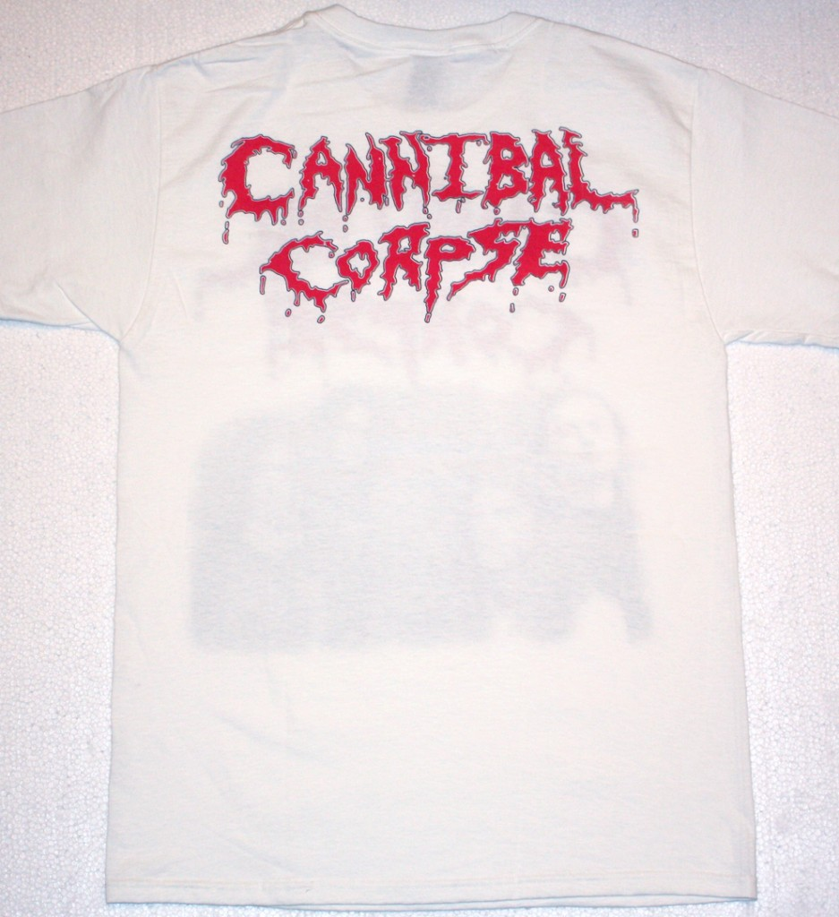 CANNIBAL CORPSE CLASSIC LINE UP NEW WHITE T-SHIRT