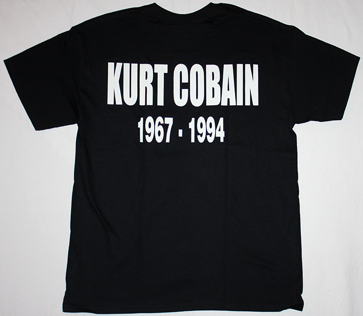 KURT COBAIN 1967-1994 NEW BLACK T-SHIRT