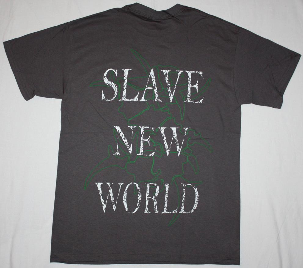 SEPULTURA SLAVE NEW WORLD'93 NEW GREY T-SHIRT