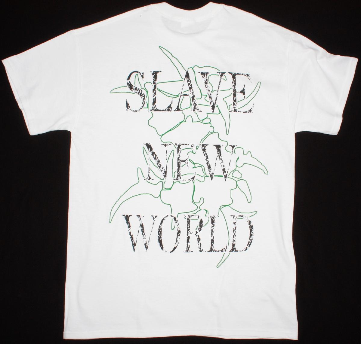 SEPULTURA SLAVE NEW WORLD'93 NEW WHITE T-SHIRT