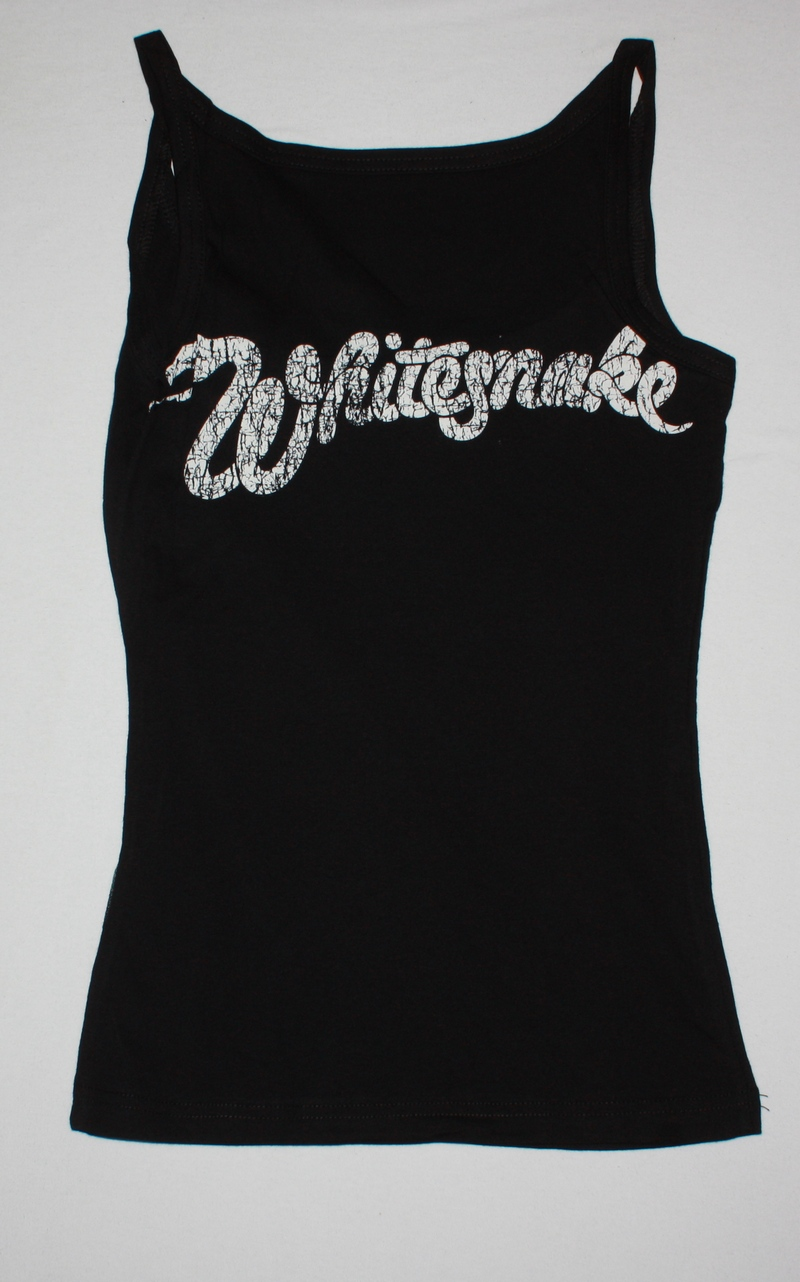 WHITESNAKE COME AN' GET IT NEW VERY RARE BLACK WOMAN'S VEST TANK TOP