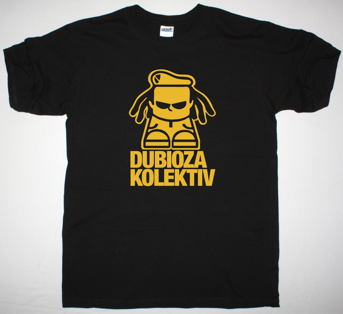 DUBIOZA KOLEKTIV LOGO NEW BLACK T-SHIRT