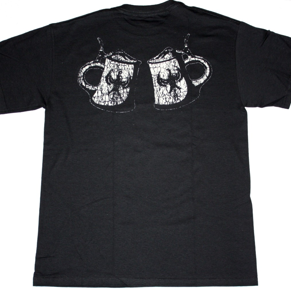 TANKARD ALCOHOLIC METAL BLACK NEW T-SHIRT