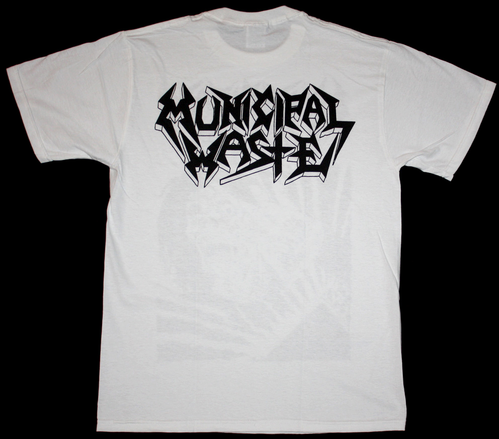 MUNICIPAL WASTE SKELBOT NEW WHITE T-SHIRT