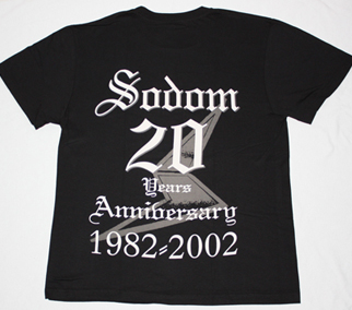 SODOM WITCHING METAL 20 YEARS ANNIVERSARY NEW BLACK T-SHIRT