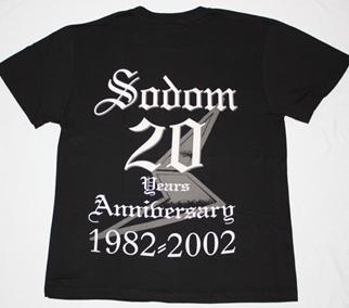 SODOM WITCHING METAL 20 YEARS ANNIVERSARY NEW BLACK T-SHIRT