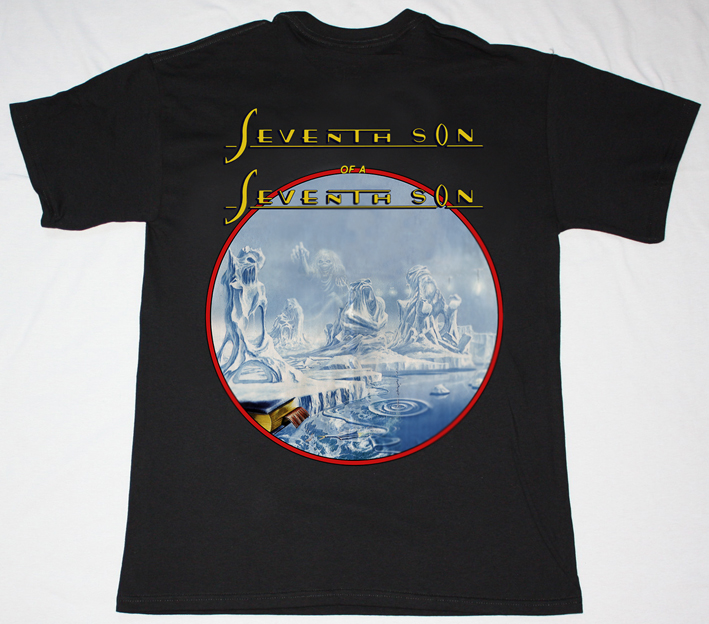 IRON MAIDEN SEVENTH SON OF THE SEVENTH SON'88 NEW BLACK T-SHIRT