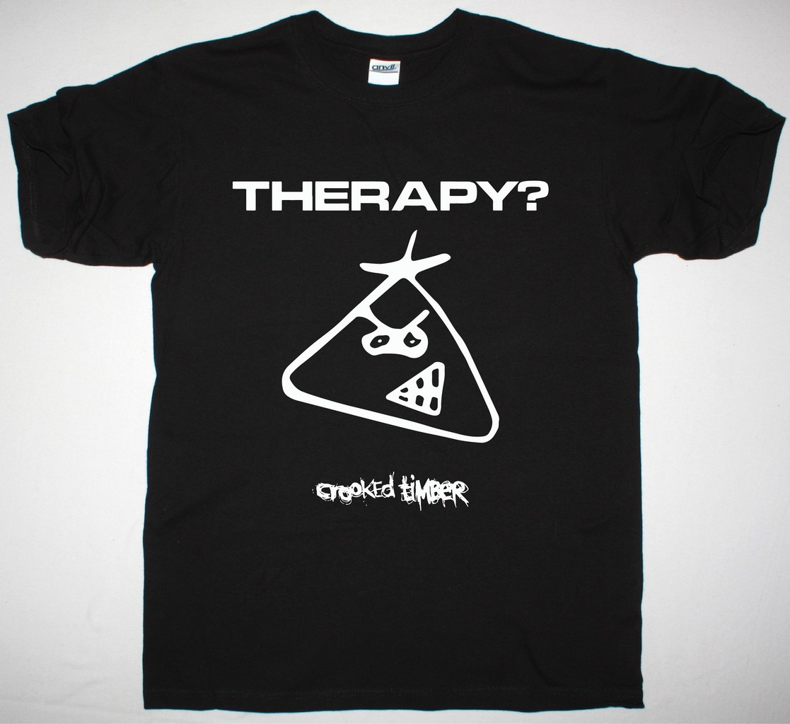 THERAPY  CROOKED TIMBER NEW BLACK T-SHIRT