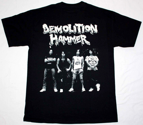 DEMOLITION HAMMER TORTURED EXISTENCE'90 NEW BLACK T-SHIRT