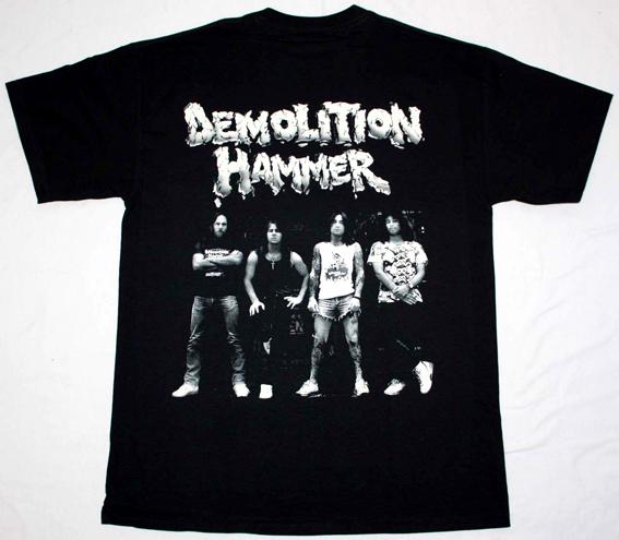 DEMOLITION HAMMER TORTURED EXISTENCE'90 NEW BLACK T-SHIRT