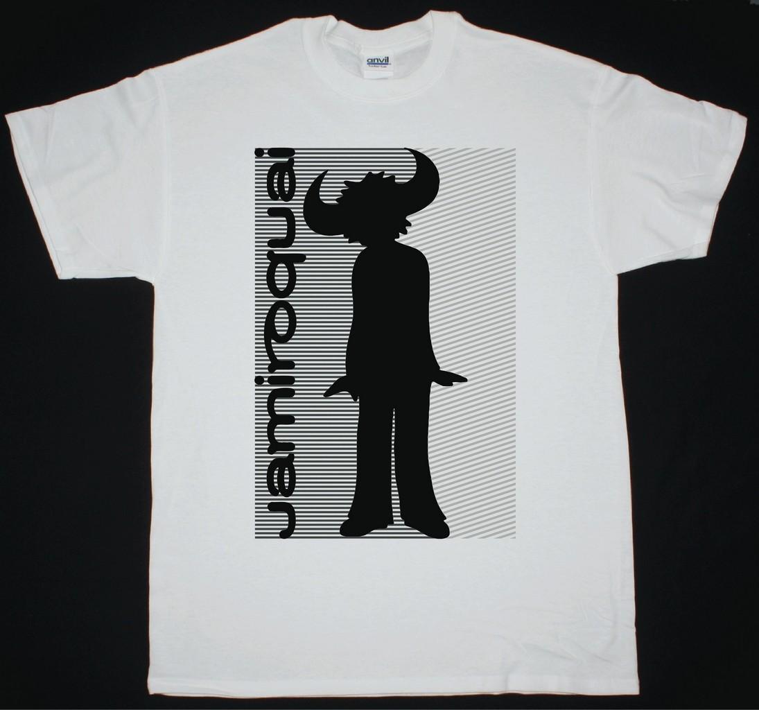 0dfb3adf8c990 JAMIROQUAI EMERGENCY NEW WHITE T-SHIRT - Best Rock T-shirts
