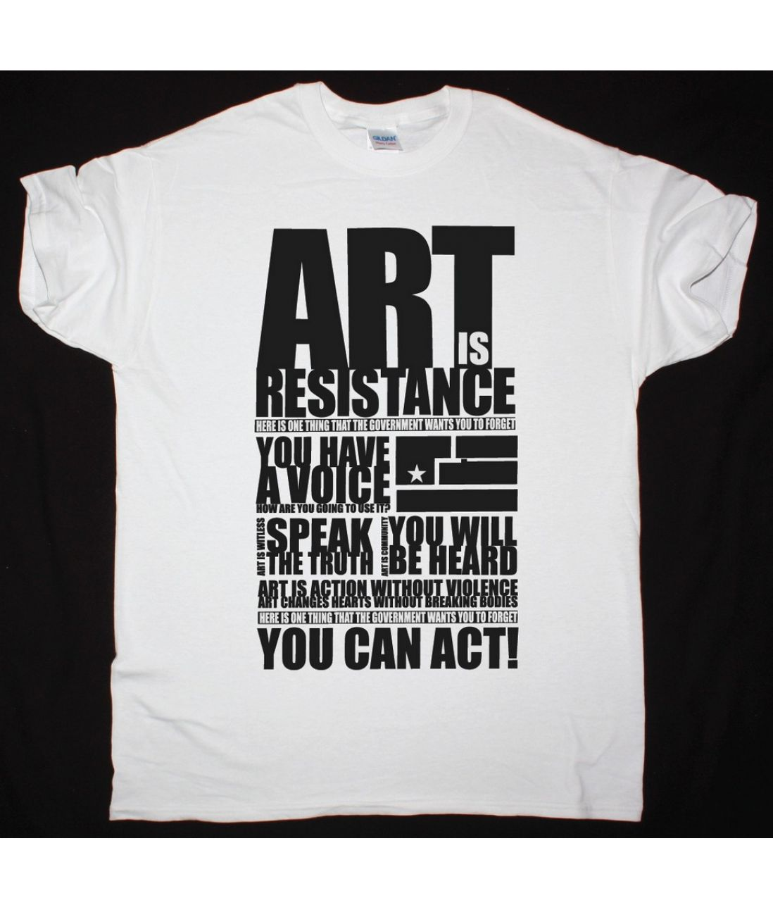 NINE INCH NAILS ART IS RESISTANCE NEW WHITE T SHIRT - Best Rock T-shirts