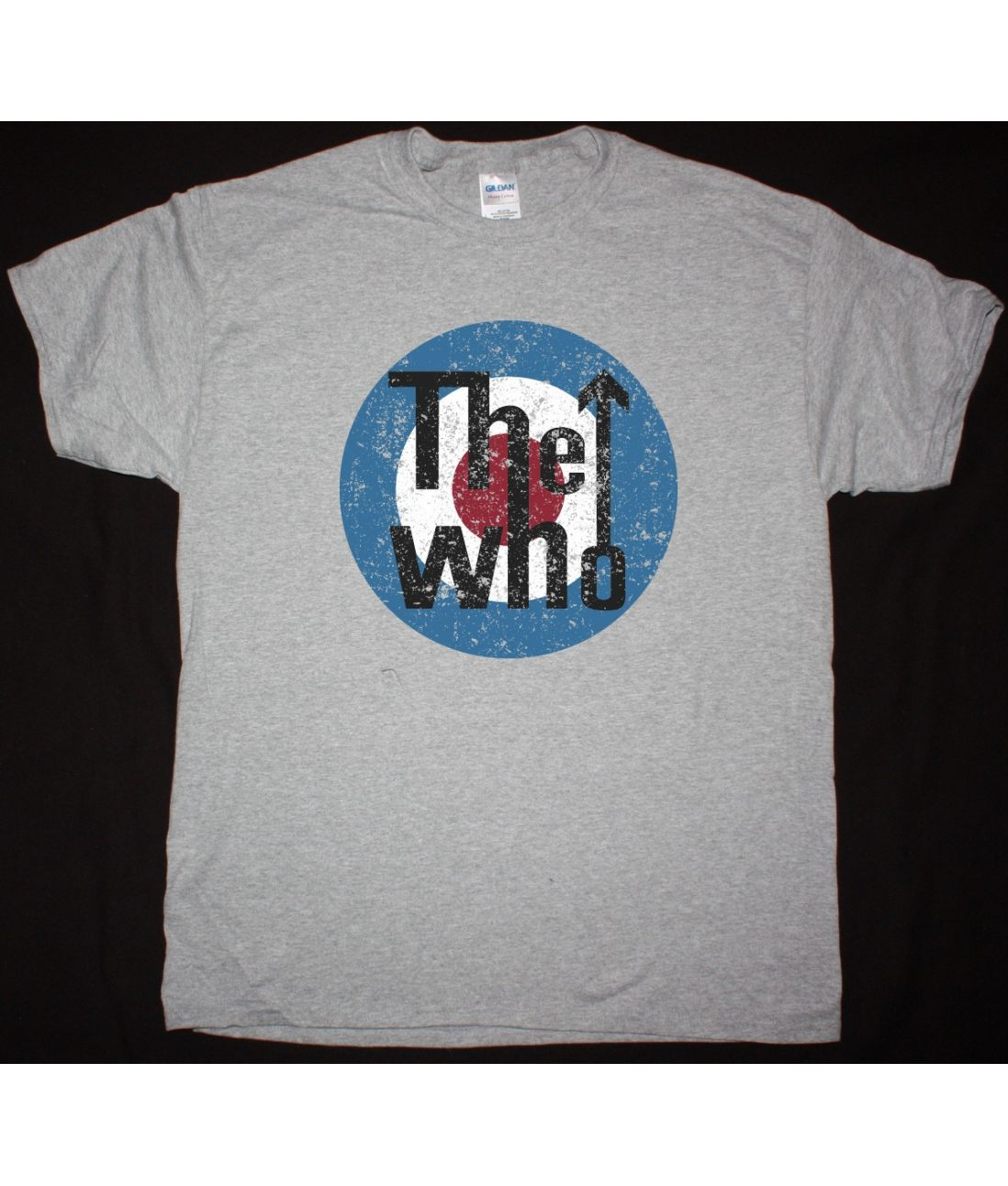 THE WHO HEAVY DISTRESSED LOGO NEW SPORTS GREY T SHIRT