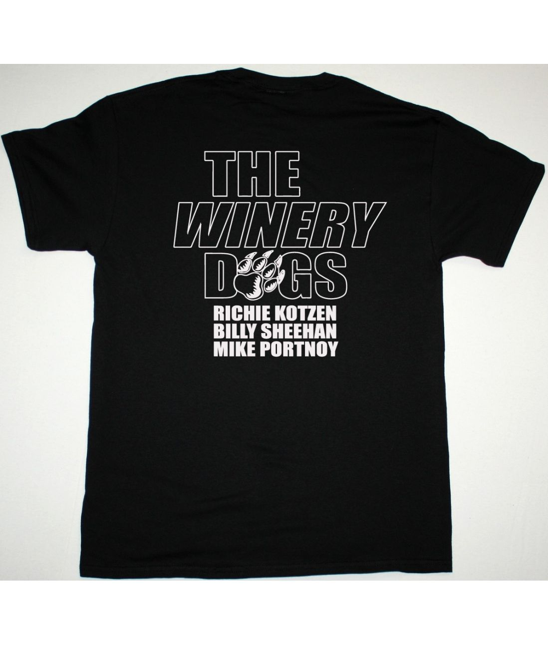 THE WINERY DOGS PAW NEW BLACK TSHIRT