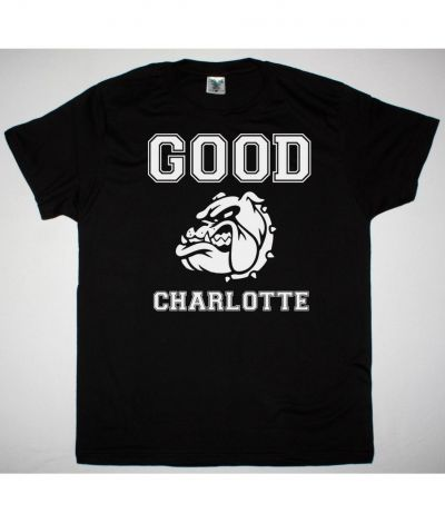 GOOD CHARLOTTE COLEGIATE NEW BLACK T SHIRT