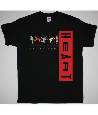 HEART BAD ANIMALS NEW BLACK T SHIRT