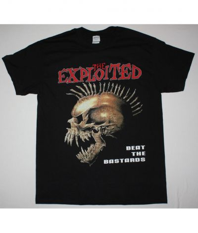 EXPLOITED BEAT THE BASTARDS NEW BLACK T-SHIRT