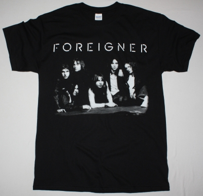 FOREIGNER BAND NEW BLACK T-SHIRT