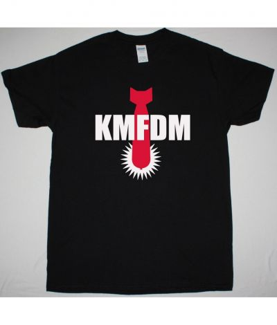 KMFDM BOMB LOGO NEW BLACK T SHIRT