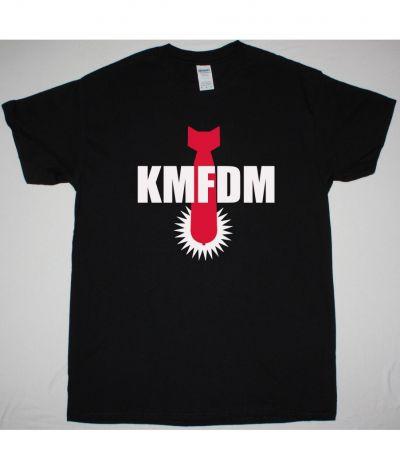 KMFDM BOMB LOGO NEW BLACK T SHIRT