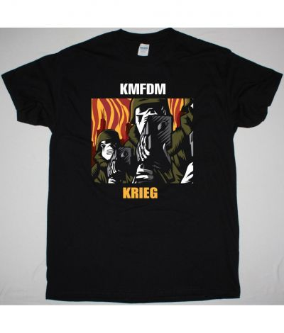 KMFDM KRIEG NEW BLACK T SHIRT