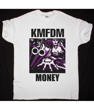 KMFDM MONEY NEW WHITE T SHIRT
