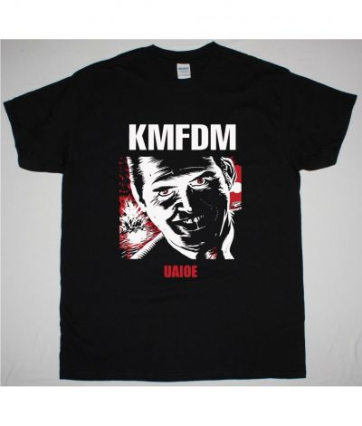 KMFDM UAIOE NEW BLACK T SHIRT