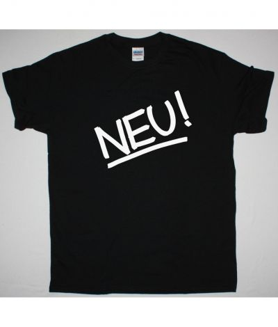 NEU! LOGO NEW BLACK T SHIRT