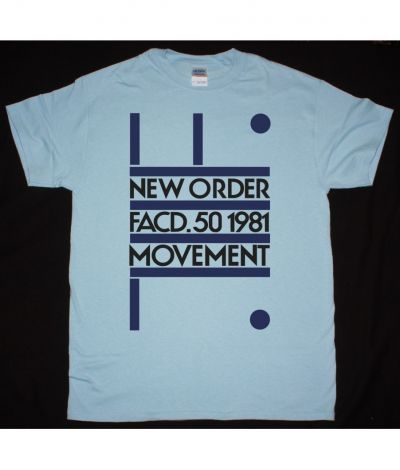 NEW ORDER MOVEMENT NEW LIGHT BLUE T SHIRT