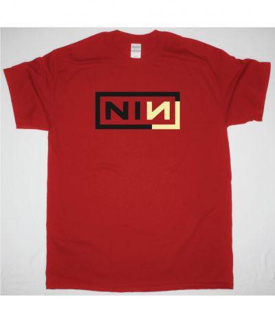 NINE INCH NAILS CORNER BOX NEW RED T SHIRT