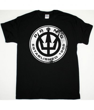 PRONG ESTABLISHED 1986 NEW BLACK T SHIRT
